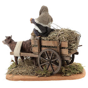 Nativity set accessory Country scene cart 10 cm clay figurines s5