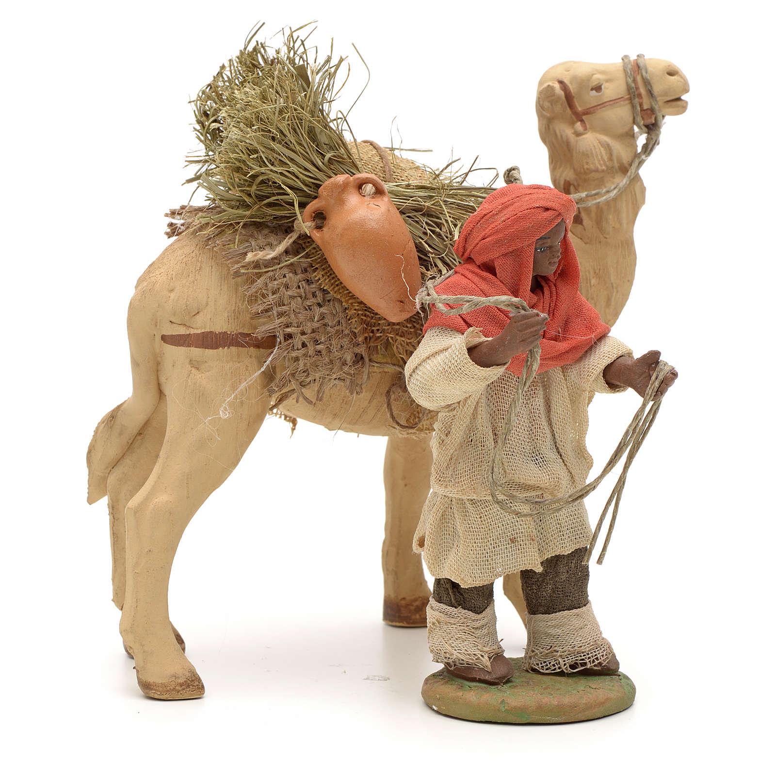 Nativity set accessory Dark cameleer with camel 10 cm figurines 4
