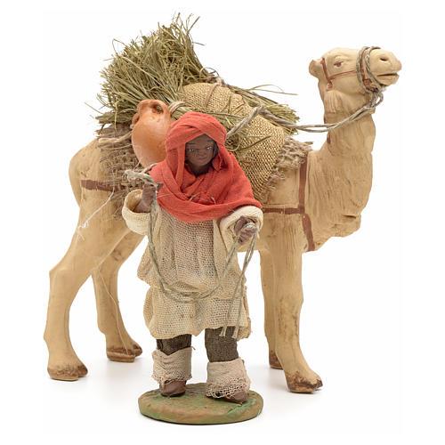 Nativity set accessory Dark cameleer with camel 10 cm figurines 1