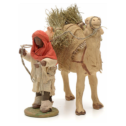 Nativity set accessory Dark cameleer with camel 10 cm figurines 2
