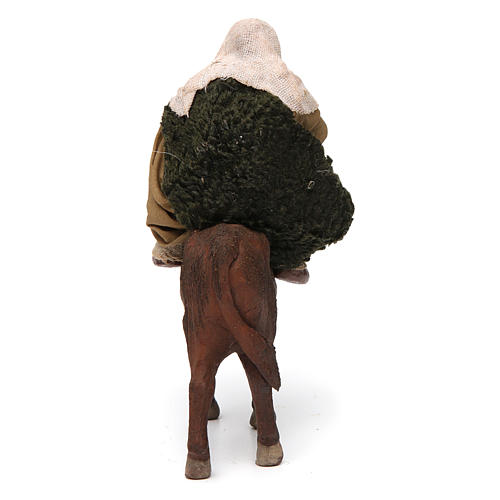 Nativity set accessory Countryman on ox 10 cm figurine 4