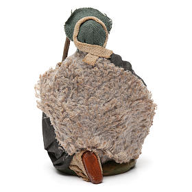 Nativity set accessory Kneeling shepherd sheep 10 cm figurines s4