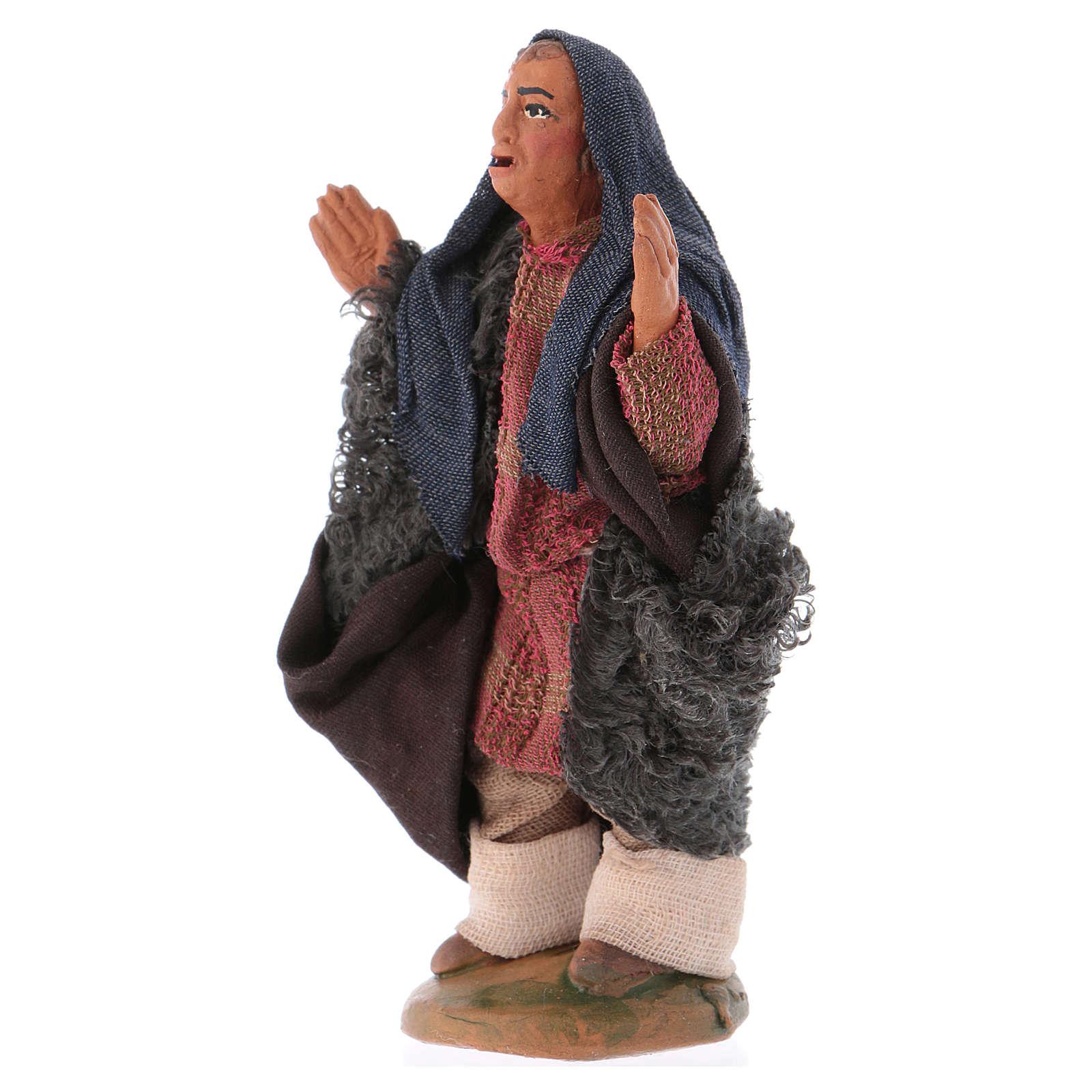 Nativity set accessory The astonished 10 cm figurine 4