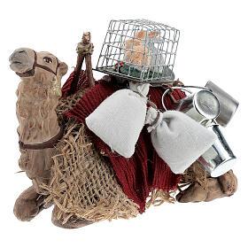 Nativity set accessory geared camel resting 10cm figurine s3