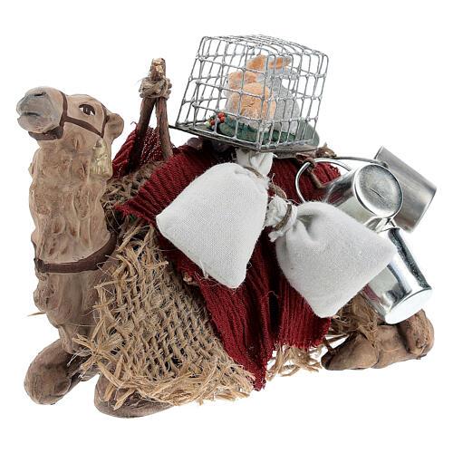 Nativity set accessory geared camel resting 10cm figurine 3