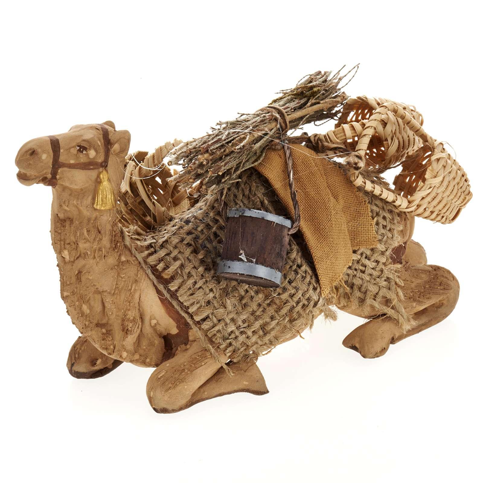 Nativity set accessory geared camel resting 10cm figurine 4
