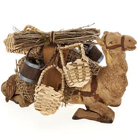 Nativity set accessory geared camel resting 10cm figurine s1