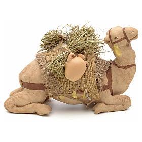 Nativity set accessory geared camel resting 10cm figurine s2