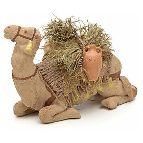 Nativity set accessory geared camel resting 10cm figurine s6