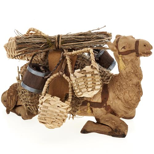 Nativity set accessory geared camel resting 10cm figurine 1