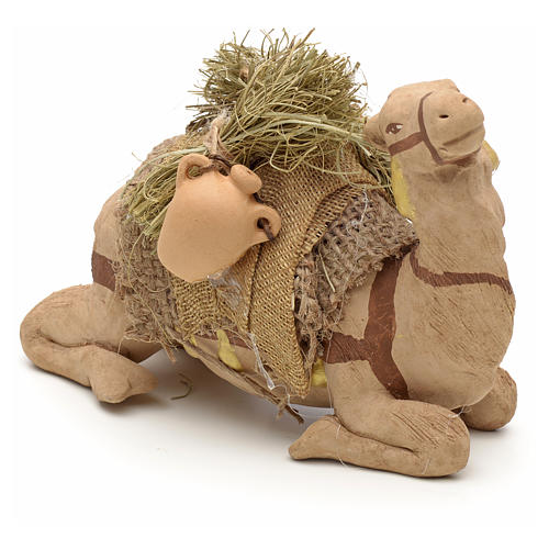 Nativity set accessory geared camel resting 10cm figurine 10