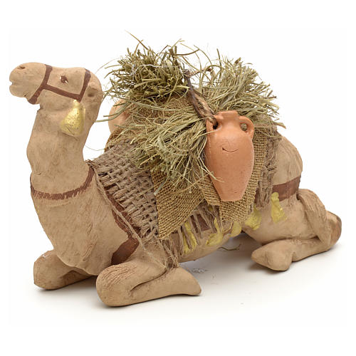 Nativity set accessory geared camel resting 10cm figurine 11