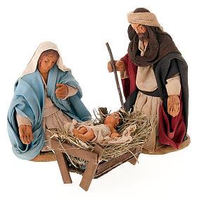 Neapolitan Nativity Scene: Nativity scene set, 10 cm tall