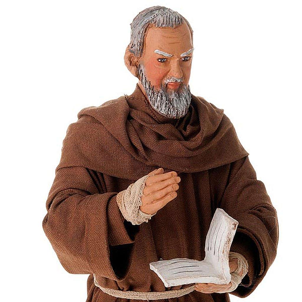 Father Pius statue in clay 24 cm 4