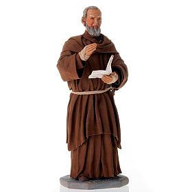 Father Pius statue in clay 24 cm s1
