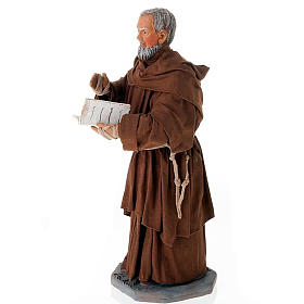 Father Pius statue in clay 24 cm s2