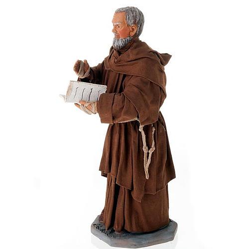 Father Pius statue in clay 24 cm 2