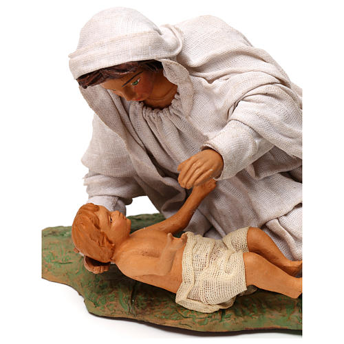 Nativity set accessory Mary resting with Baby 24 cm figurine 2