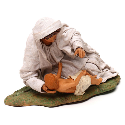 Nativity set accessory Mary resting with Baby 24 cm figurine 3