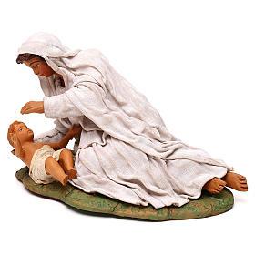 Virgen acostada con nino 24 cm s4