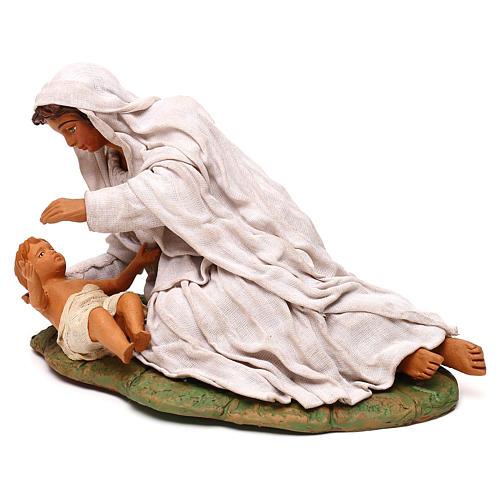 Virgen acostada con nino 24 cm 4