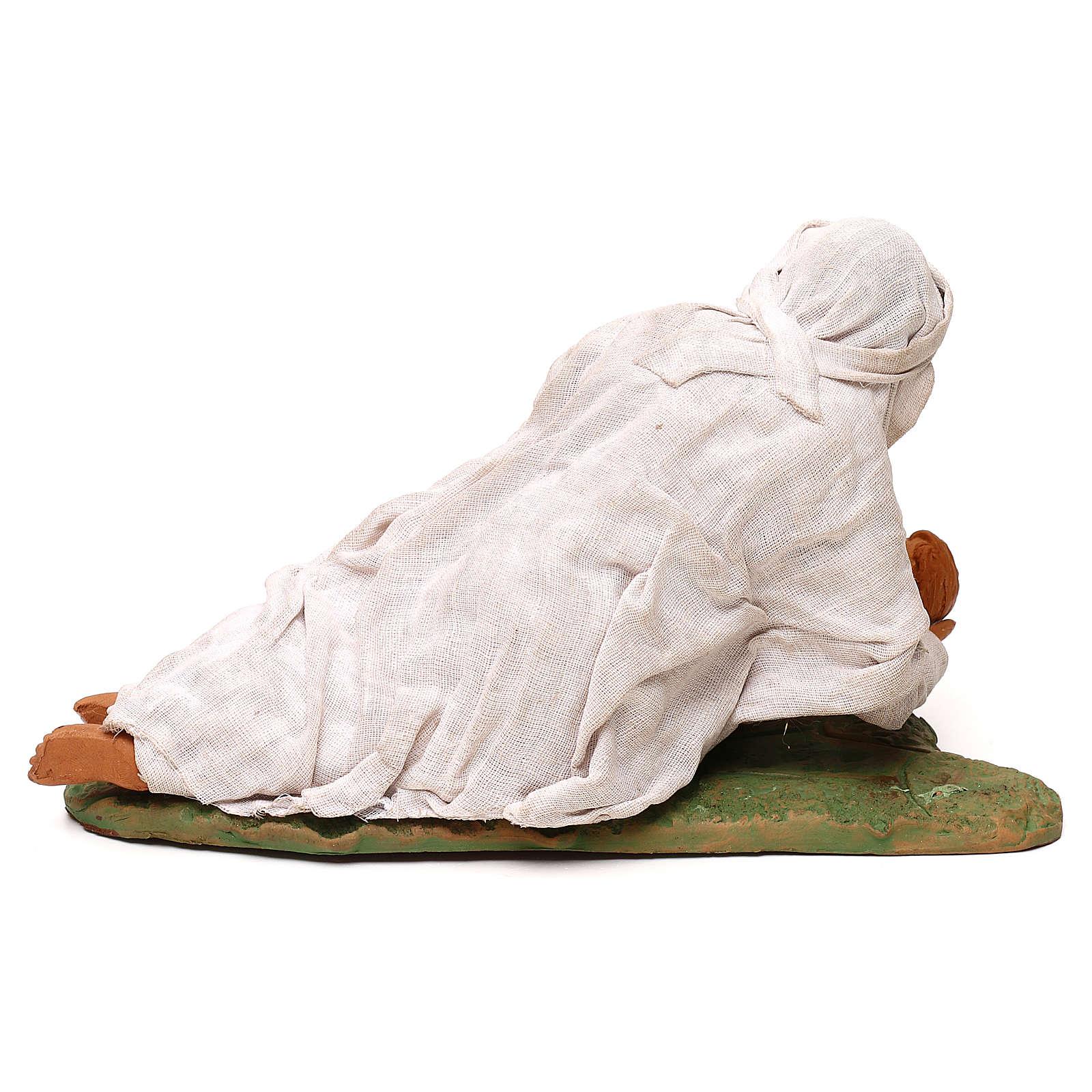 Vierge couchée avec enfant 24 cm 4