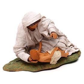 Vierge couchée avec enfant 24 cm s3