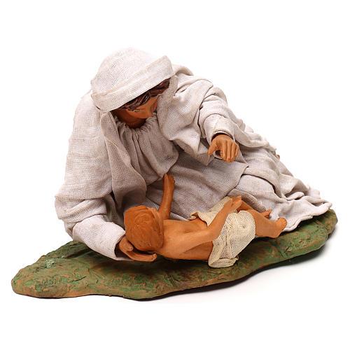 Vierge couchée avec enfant 24 cm 3