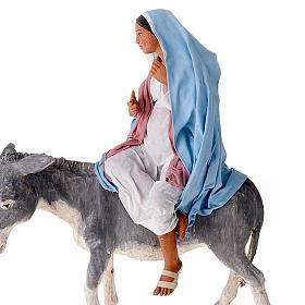 Nativity scene set Joseph and expecting Mary on donkey 30 cm s6