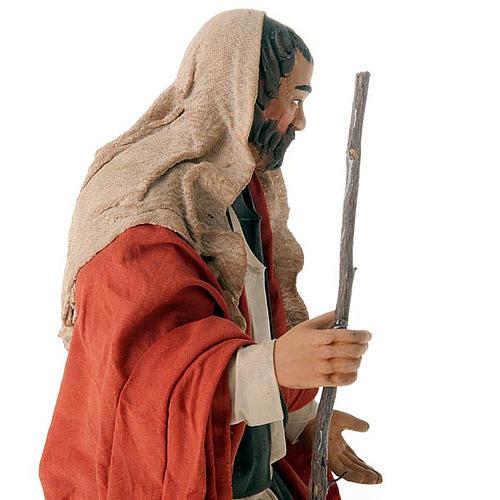 Nativity scene set Joseph and expecting Mary on donkey 30 cm 2