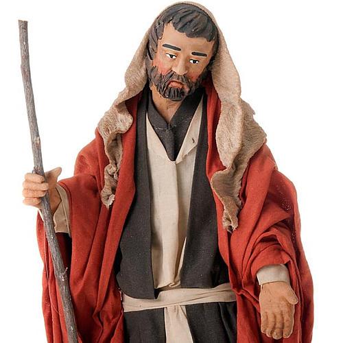 Nativity scene set Joseph and expecting Mary on donkey 30 cm 3