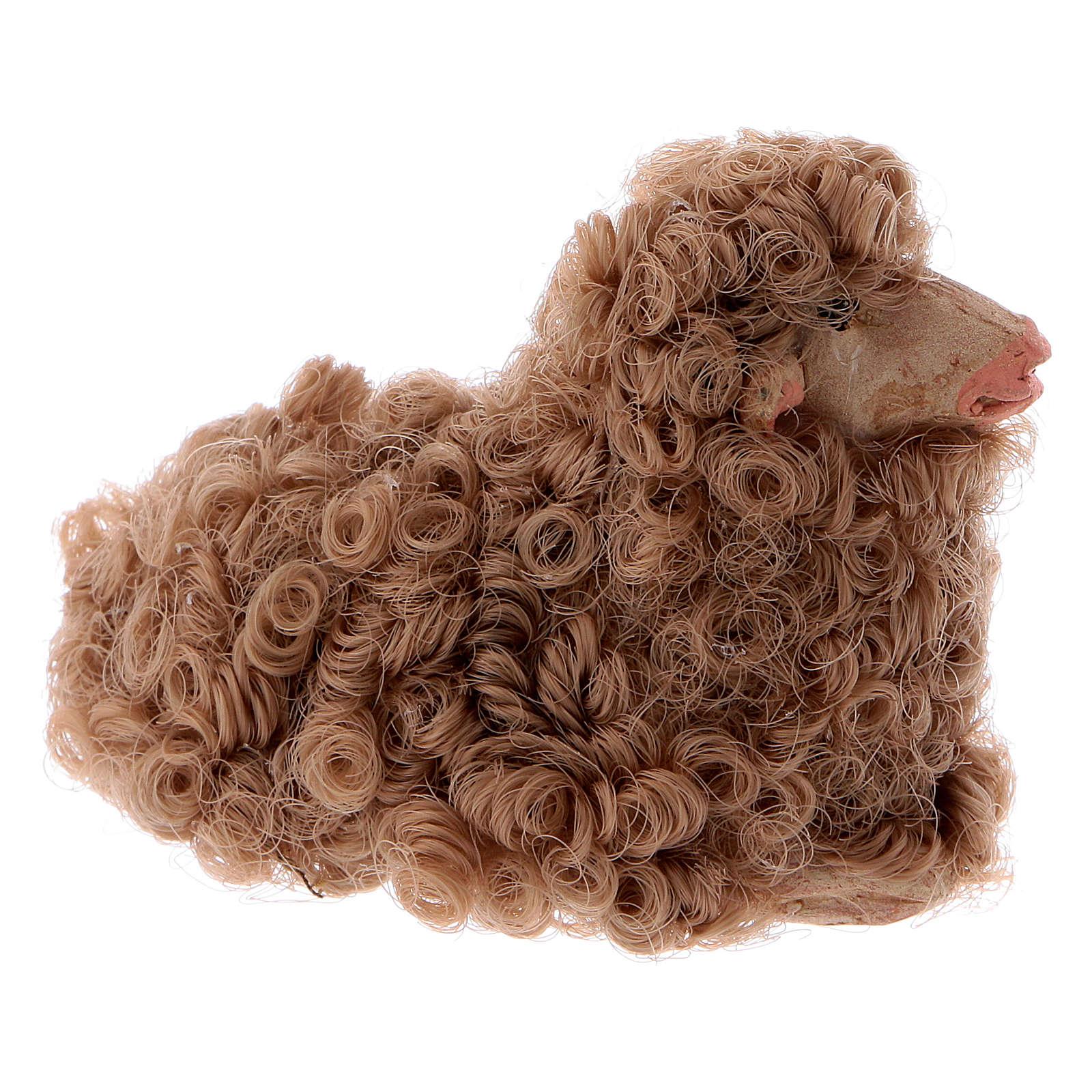 Pecorella accovacciata 12 cm colori misti 4