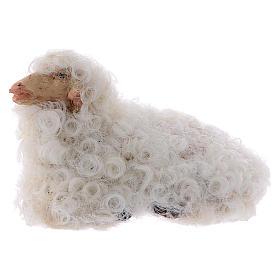 Pecorella accovacciata 12 cm colori misti s1