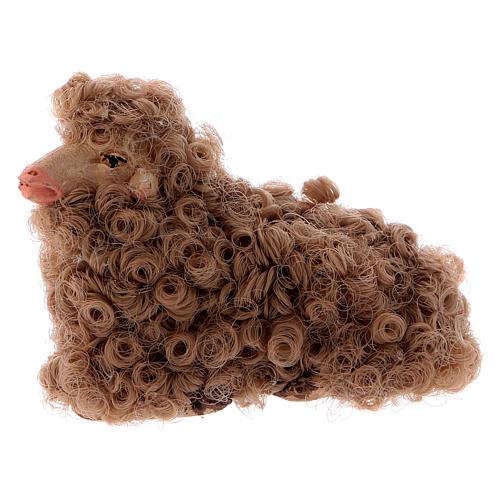 Pecorella accovacciata 12 cm colori misti 3