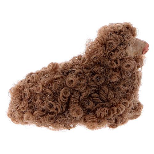 Pecorella accovacciata 12 cm colori misti 5