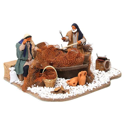 Animated nativity scene, fishermen 14 cm 3