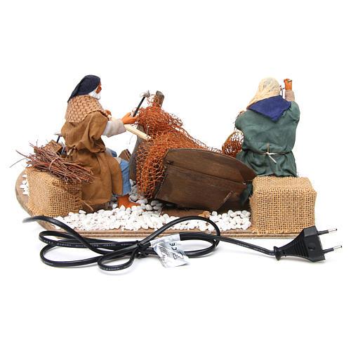 Animated nativity scene, fishermen 14 cm 4