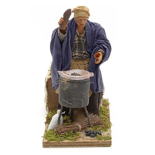 Vendedor de castañas 2 movimientos 14 cm terracota 1