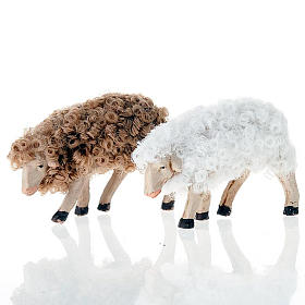 Pecorella testa bassa 12 cm colori misti s1