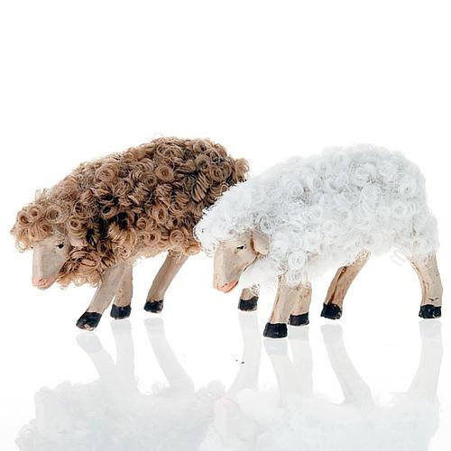 Pecorella testa bassa 12 cm colori misti 1