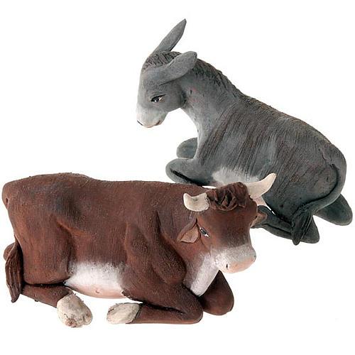 Buey y burro 14 cm 1