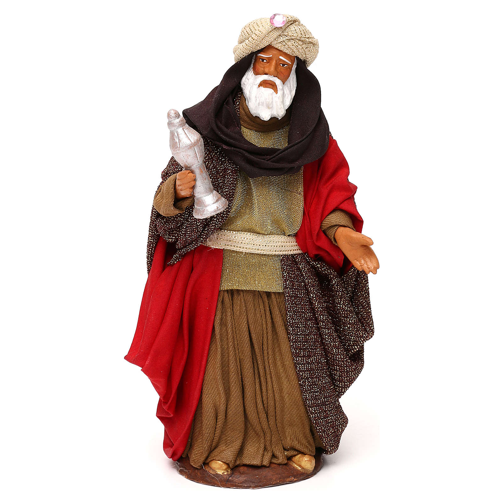 Nativity set accessories Three wise kings 14 cm figurines 4