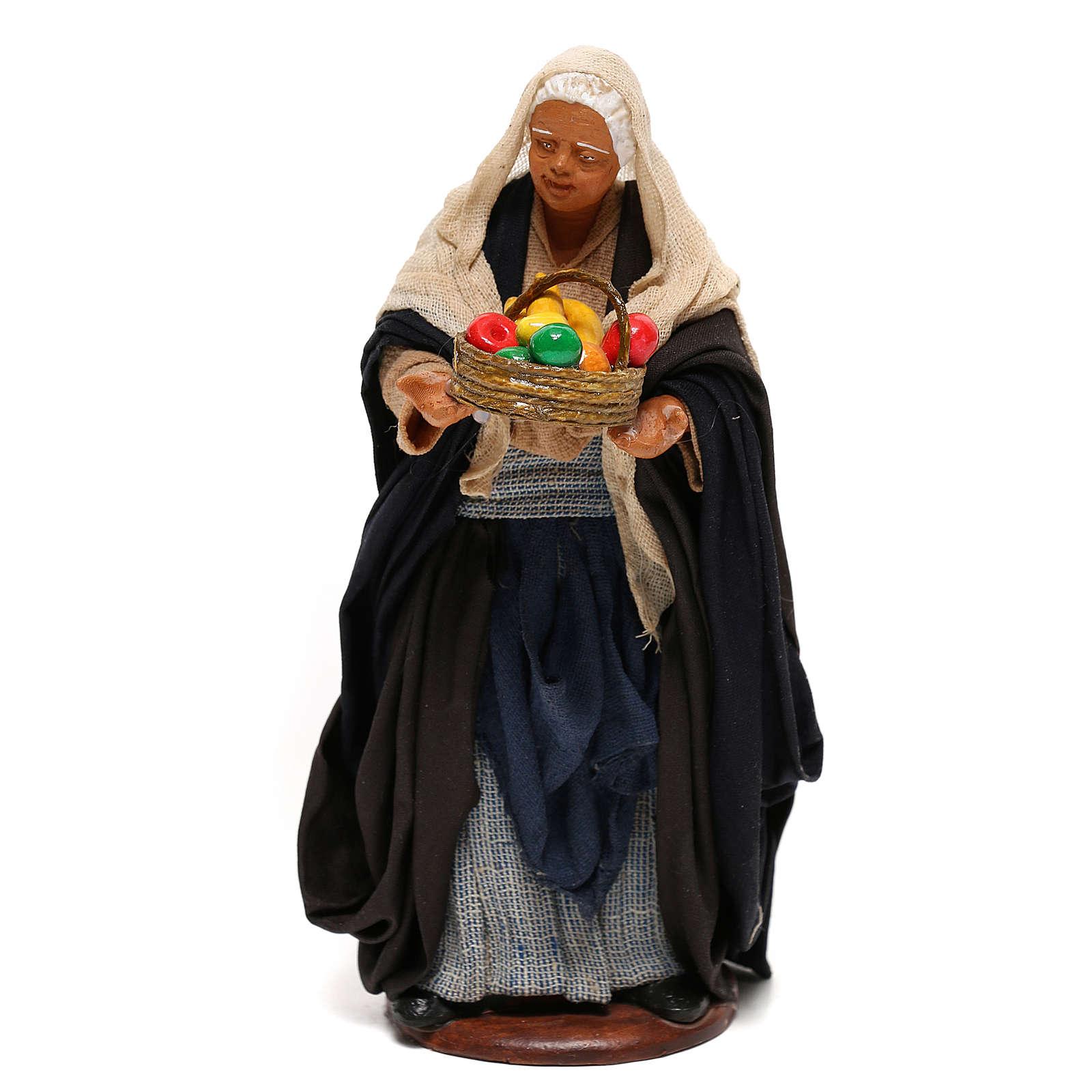 Nativity set figurine, woman with basket14 cm 4
