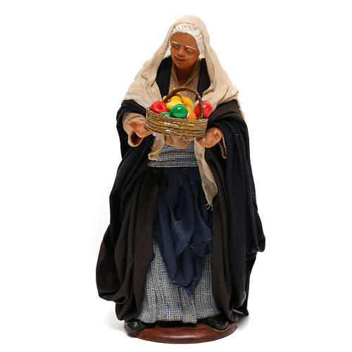 Nativity set figurine, woman with basket14 cm 1