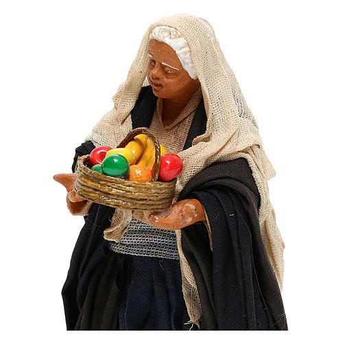 Nativity set figurine, woman with basket14 cm 2