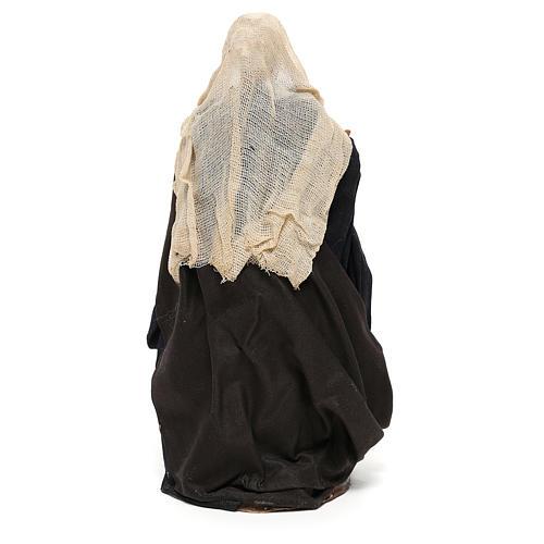 Nativity set figurine, woman with basket14 cm 5