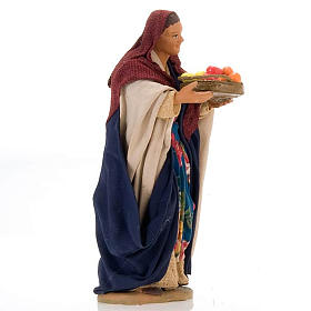 Nativity set figurine, woman with basket14 cm s3
