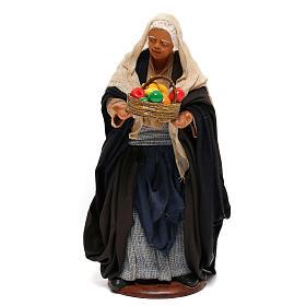 Nativity set figurine, woman with basket14 cm s1