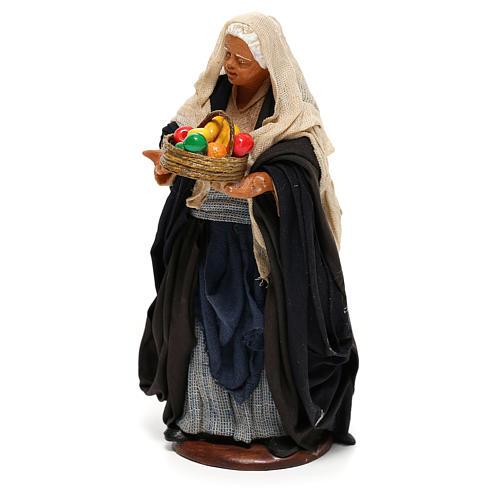 Nativity set figurine, woman with basket14 cm 3
