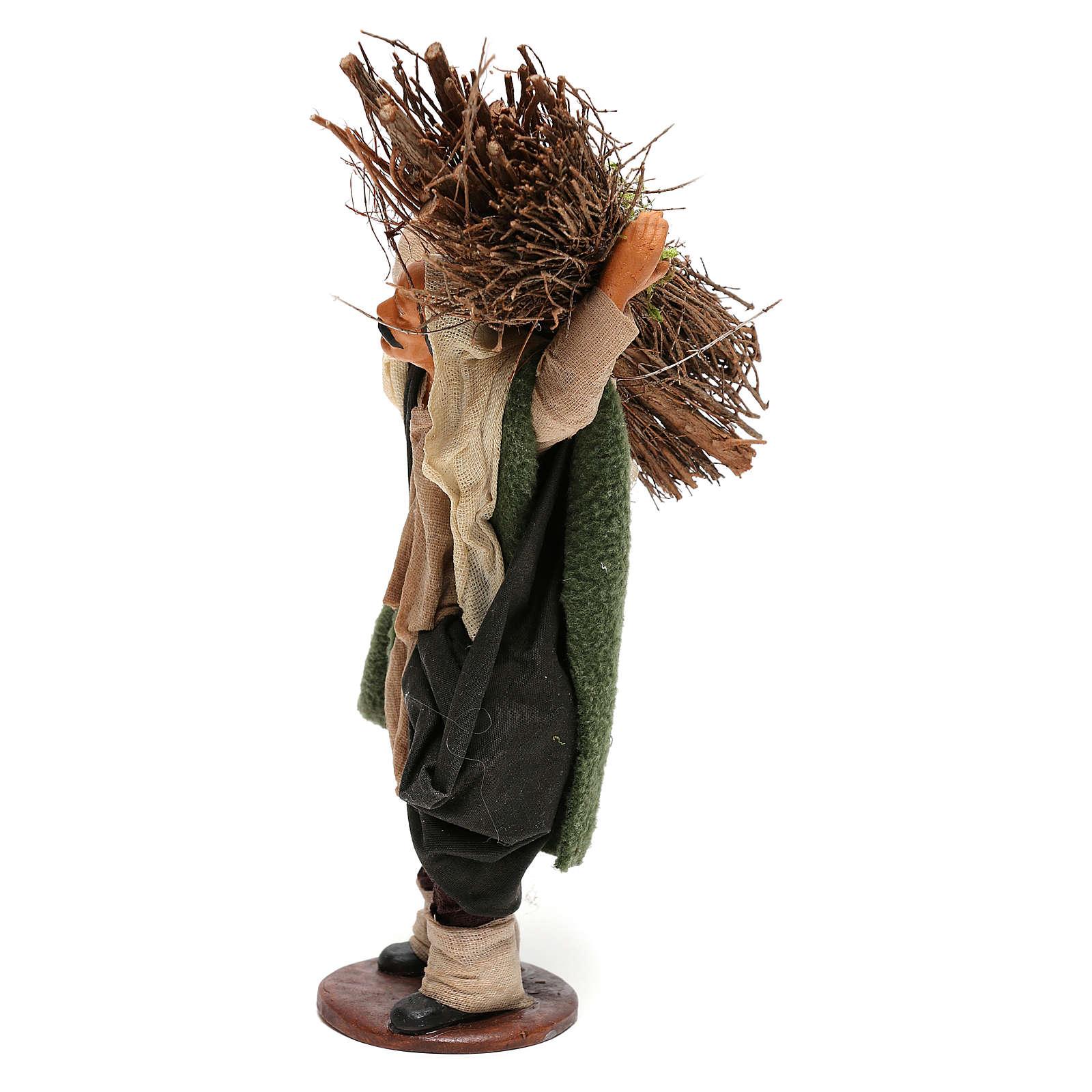 Nativity set accessory Wood cutter 14 cm figurine 4